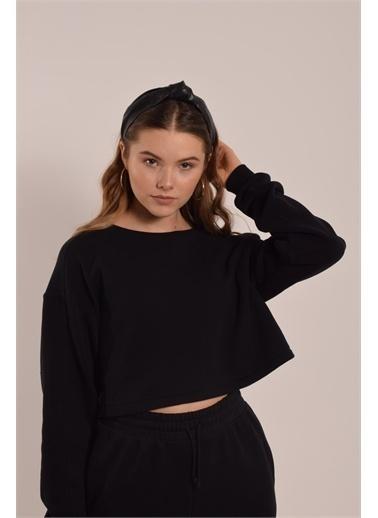 iandb Uzun Kol Sweatshirt Uma Siyah